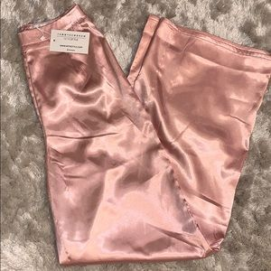 Wide-leg satin pink pants (brand new never worn)